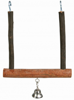 Šūpolītes putniem - TRIXIE Natural Living swinging trapeze with bell, 12 x 15 cm