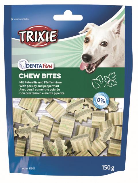 Лакомство для собак - Trixie Denta Fun Chew Bites, 150 г