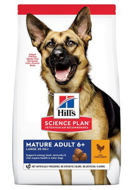 Barība suņiem - Hill's Canine Mature Adult 6+ Large Breed Chicken, 18 kg