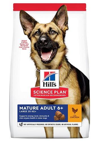 Корм для собак - Hill's Canine Mature Adult 6+ Large Breed Chicken, 18 кг