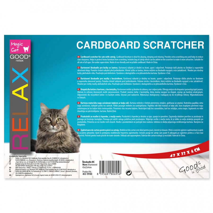 Когтеточка для кошек - MAGIC CAT Wave 3, 43 x 22 x 4 см
