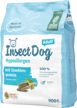 Barība suņiem - Josera Green Petfood Insect Dog Hypoallergen, 900 g