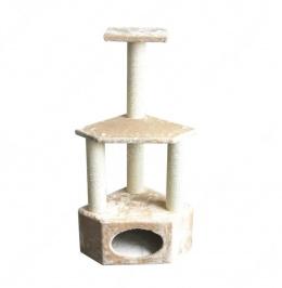 Mājiņa kaķiem - Pawise Rome II, 40 x 40 x 110 cm, beige