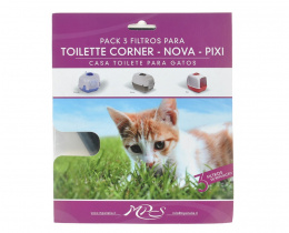 Фильтр для кошачьего туалета - MPS2, Komoda, 3 шт.