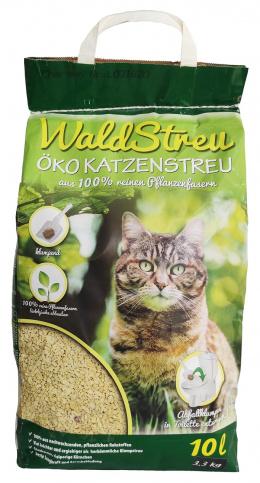 Pakaiši kaķu tualetei - WaldStreu OKO Wood, 10 L