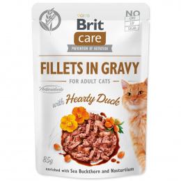 Konservi kaķiem – Brit Care Cat Fillets in Gravy Hearty Duck, 85 g