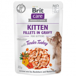 Консервы для котят - Brit Care Cat Fillets in Gravy Tender Turkey, 85 г