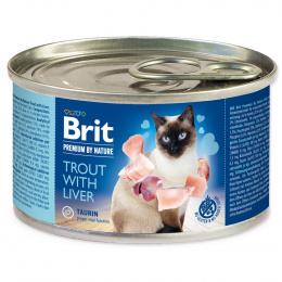 Консервы для кошек - BRIT Premium by Nature Trout with Liver, 200 г