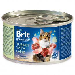Консервы для кошек - BRIT Premium by Nature Turkey with Lamb, 200 г
