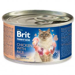 Консервы для кошек - BRIT Premium by Nature Chicken with Rice, 200 г