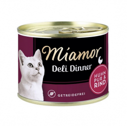 Консервы для кошек - Miamor Deli Dinner Chicken Pure+Beef, 175 г