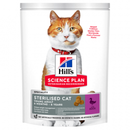 Barība kaķiem - Hill's Feline Sterilised Cat Young Adult Duck, 300 g