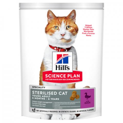 Корм для кошек - Hill's Feline Sterilised Cat Young Adult Duck, 300 г