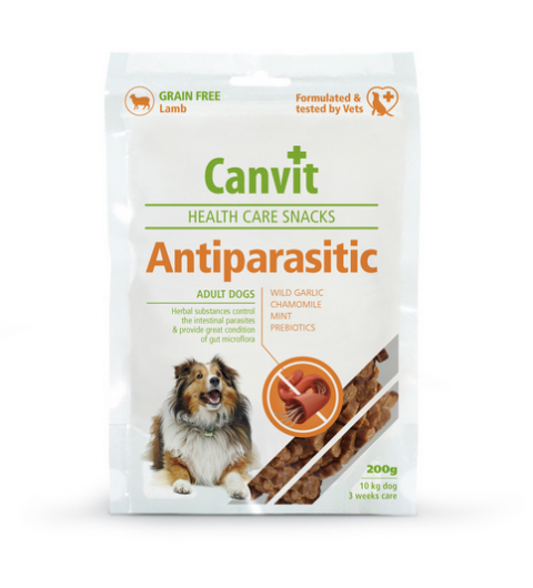 Gardums suņiem - Canvit Health Care Snack AntiParasitic, 200 g title=