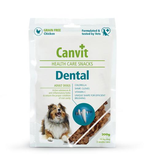 Gardums suņiem - Canvit Health Care Snack Dental, 200 g title=