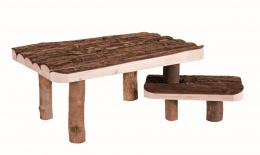 Деревянный домик для грызунов - Trixie Natural Living shelter and platform with steps, 37 x 17 x 28 см