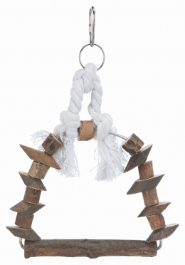 Aksesuārs putnu būrim - Natural Living arch swing, 15 x 20 cm
