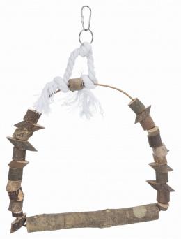 Aksesuārs putnu būrim - Natural Living arch swing, 22 x 29 cm