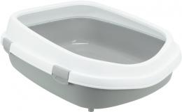 Tualete kaķiem - Trixie, Primo XXL Litter Tray with rim, grey/white, 56 x 25 x 71 cm