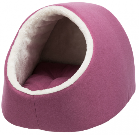 Спальное место для кошек – TRIXIE Salva Cuddly Cave, 41 x 30 x 50 см, Fuchsia/Cream title=