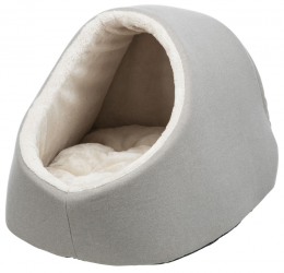 Спальное место для кошек – TRIXIE Salva Cuddly Cave, 41 x 30 x 50 см, Taupe/Cream