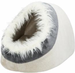 Спальное место для кошек - Minou cuddly cave, 41*30*50 cm, beige/grey