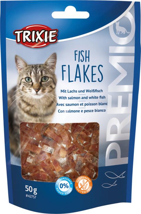 Gardums kaķiem - PREMIO Fish Flakes, 50 g