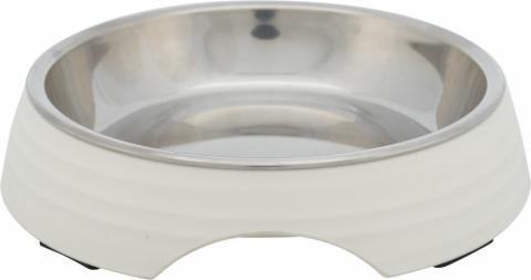 Bļoda kaķiem – TRIXIE Melamine/Stainless steel bowl, 0,2 l/14 cm title=