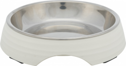 Миска для кошек - Trixie Melamine/Stainless steel bowl, 0.2 l/14 см