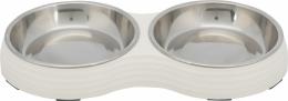 Миска для кошек – TRIXIE Melamine/Stainless steel bowl Set, 2 x 0,2 л/14 см