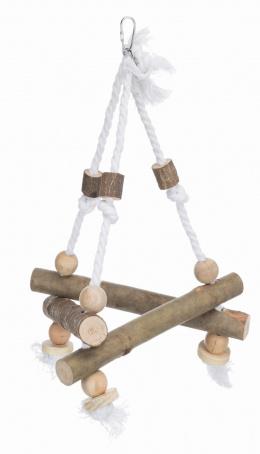 Aksesuārs putnu būrim - Natural Living swing on rope, 27*27*27 cm