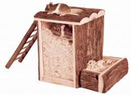 Игрушка для грызунов - Natural Living play and burrow tower, 20 x 20 x 16 см