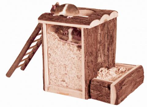 Rotaļu tornis grauzējiem - Natural Living play and burrow tower, 20 x 20 x 16 cm title=