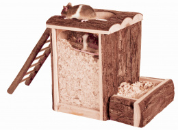Rotaļu tornis grauzējiem - Natural Living play and burrow tower, 20 x 20 x 16 cm