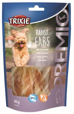 Gardums suņiem - TRIXIE PREMIO Rabbit Ears, 80 g