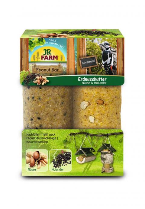 Barība savvaļas putniem - JR Garden PBar double pack Nuts&Elderberies, 700 g