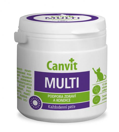 Vitamīni kaķiem - Canvit Multi CAT tablets N 100, 100 g title=