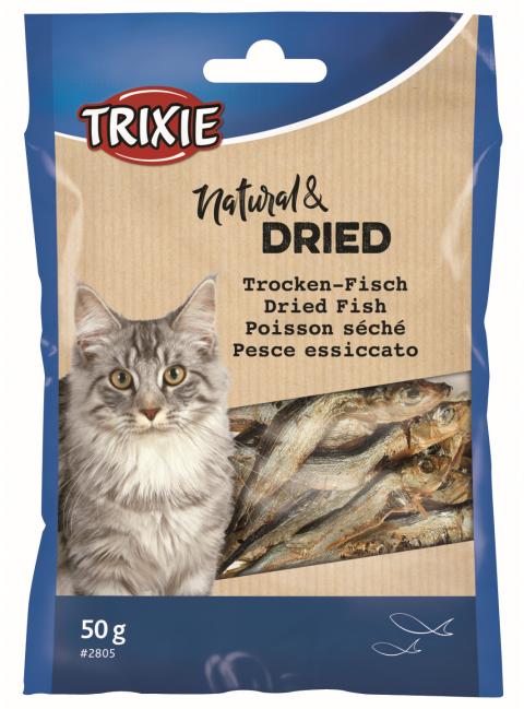 Лакомство для кошек - TRIXIE Dried Fish, 50 г title=