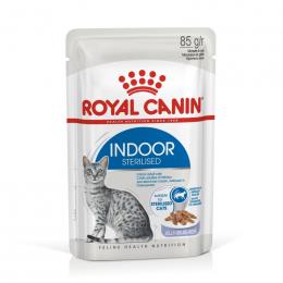 Konservi kaķiem - Royal Canin Feline Indoor Sterelised (in jelly), 85 g