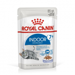 Konservi kaķiem - Royal Canin Feline Indoor, Sterelised 7+ (in jelly), 85 g