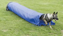 Аджилити туннель для собак - Trixie Dog Activity Agility sack tunnel, 60 cm/ 5 m, синий
