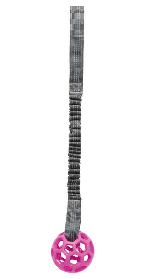 Rotaļlieta suņiem - Bungee Tugger with ball, 48 cm title=