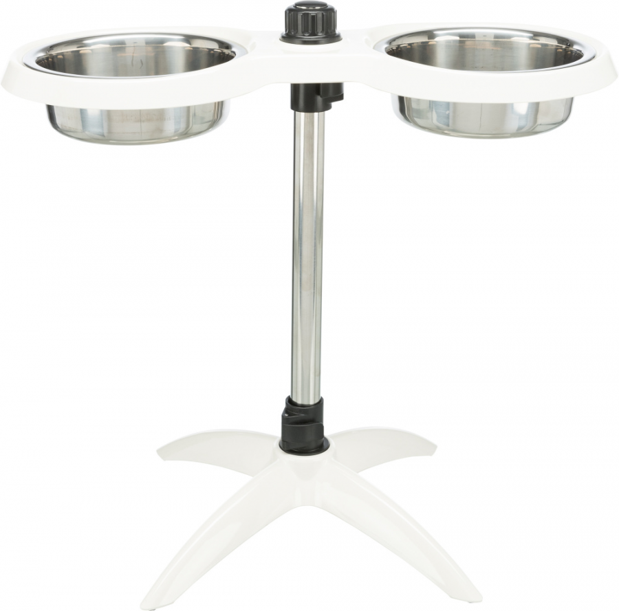 Штатив с мисками - Trixie Dog bar, melamine/stainless steel, 2 x 2,4 л, white