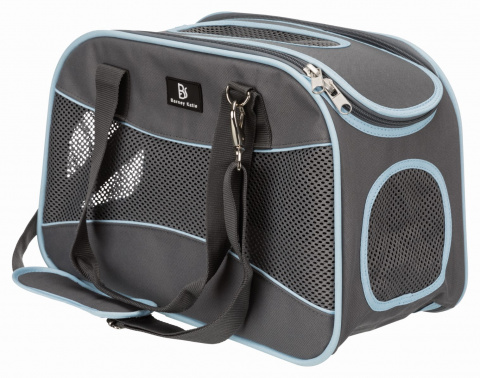 Transportēšanas soma dzīvniekiem - Trixie Alison carrier, 20*29*43 cm, grey/blue