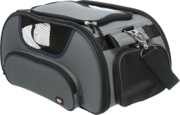 Transportēšanas soma dzīvniekiem - Trixie Wings airline carrier, 28*23*46 cm, grey/blue