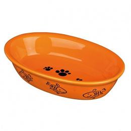 Bļoda kaķiem – TRIXIE Assortment Oval Ceramic Bowls, 0,2 l, 15 x 10 cm