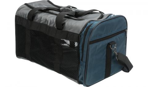 Transportēšanas soma dzīvniekiem - Trixie Samira carrier, 31*32*52 cm, grey/blue title=