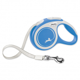 Поводок-рулетка для собак – Flexi New Comfort Tape Leashes XS 3 м, Blue
