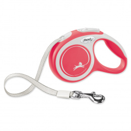 Inerces pavada suņiem - Flexi New Comfort Tape Leashes XS 3m, red