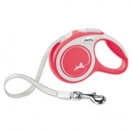 Поводок-рулетка для собак – Flexi New Comfort Tape Leashes XS 3 м, Red